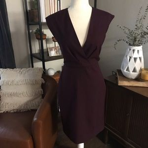 J. Crew Dresses - J. Crew purple wine color cocktail dress